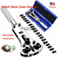 Watch Band Back Case Opener Fixer Repair Tool Kit Battery Screw Cover Remover US