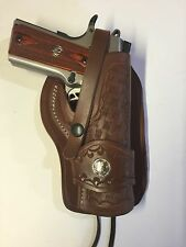 "Fits Colt 1911 5"",Springfield,Remington,Kimber, Right Hand Leather Holster"
