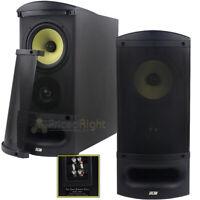 "2 DCM by MTX Audio 2-Way 6.5"" Home Theater Bi-Amp Bookshelf Speaker Pair TFE60-B"