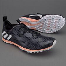 adidas XCS 6 Womens Country Running Spike Trainer Shoe Black / Pink UK 4.5