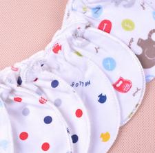 6PCS Baby Infant Anti-scratch Cotton Mittens Gloves Handguard 0-6 Months Newborn