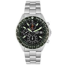 NEW SEIKO-SND253P1-Men-CHRONOGRAPH-STAINLESS-STEEL-100M-WR-NEW-SND253