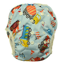 Washable Reusable Swim Nappy Baby Toddlers Cover Diaper Pants Swim Nappies (S60)
