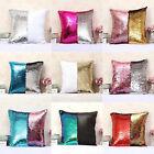 Reversible Mermaid Sequins Cushion Glitter Cover Double Color Pillow Case DecorO