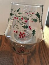 Pfaltzgraff WINTERBERRY Glass Tealight Candle Holder