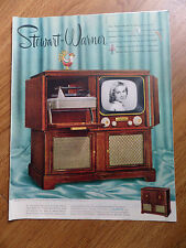 1951 Stewart Warner Radio Phonograph Television Ad  Model 9121-E
