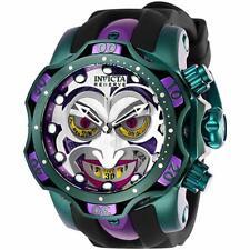 Invicta Mens Reserve DC Comics Joker Swiss Ltd Edi Chrono Blk Rubber Strap Watch