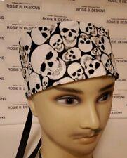 SUGAR SKULLS  GLOW IN THE DARK/ MEN'S  SCRUB CAP/SURGICAL HAT /NURSES/TECHS/DRS/