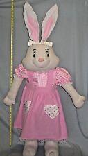 48 Inches Tall Stuffed Rabbit Plush Cottage Decoration Door Stop #SH84