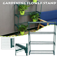 4-Tier Tunnel Wire Plant Frame Stand Rack Shelf For Greenhouse Winter Garden US