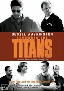 Remember The Titans DVD Denzel Washington & Will Patton Gridiron football Movie