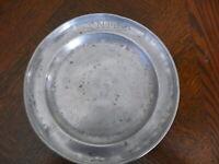 Rarität fast 200 Jahre alter Zinn Teller Zinnteller massiv Zinn 3 x gestempelt 2