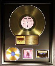 Pearl Jam Ten LP, Cassette & CD Gold Non RIAA Record Award Epic Records