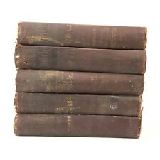 Ouida Illustrated Book Stack Instant Library Set Dark Brown Gold Gilt Fiction