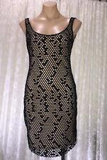 SHONA JOY SIZE 10  BLACK LACE STYLE  DRESS