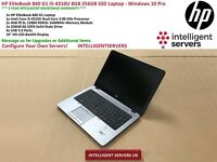 HP EliteBook 840 G1, Intel Core i5-4310U, 8GB, 256GB SSD Laptop - Windows 10 Pro
