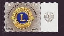 Estonia 2017 MNH - Lions International Anniv - one stamp with label