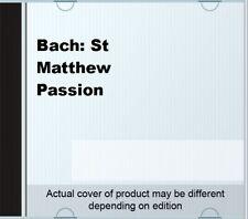 Bach: St Matthew Passion By Johann Sebastian Bach,Furtwangler,Wiener Philharm.