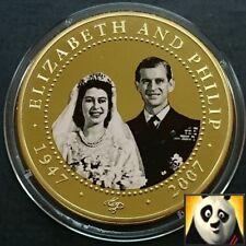 2007 ISOLE COOK $1 Elizabeth & DUKE Philip 24K GOLD PLATED PROOFLIKE FOTO