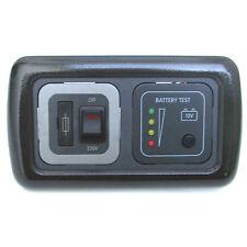 BATTERY VOLTAGE LEVEL TEST PANEL & 230V SPUR 10 AMP METALLIC BLACK FRAME CARAVAN