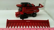 1/64 CUSTOM case ih 9240 combine with tracks w/ 16 row corn head ERTL farm toy