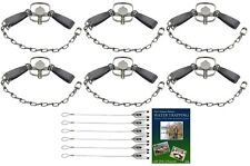 (6 Pack) Duke #11 Double Longspring Value Package with Dvd and Cable Stakes