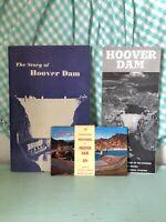 Vintage Hoover Dam Travel Guides Postcards 1950's Travel Vacation Nevada Arizona