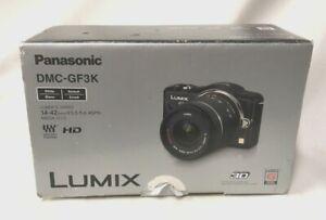 (CRD) Panasonic Lumix DMC-GF3K Digital Camera/ Lens Kit Colour White