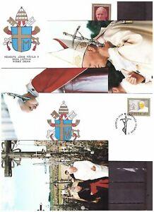 s20179) VATICANO Lotto FDC + Cartoline Viaggi Papa  x 50 (vedi scan x10)