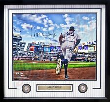 Aaron Judge Dugout Yankees Autographed Signed 16x20 Framed Photo Fanatics COA