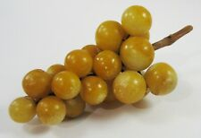 Vintage Italian Marble Fruit Grape Cluster Matte Finish Alabaster Realistic
