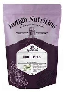 Goji Berries - 1kg - (Quality Assured) Indigo Herbs