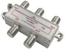 F-Conector Divisor 4 vías F Enchufe Señal dividida en 4