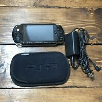 Sony PSP Console Portable Black Handheld PSP-1001 System + Charger-Look At Pics