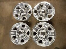 FULL SET 97-99 Ford Expedition OEM 16x7 Polished Alloy Wheel Rims with Caps