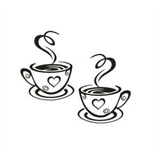 Stickers Art Decal Kitchen Vinyl Restaurant Pub Cups Tea Coffee Cafe Wall .p