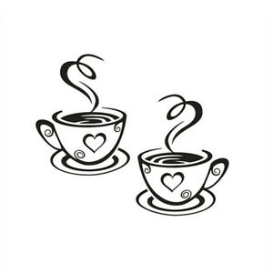 Stickers Art Decal Kitchen Vinyl Restaurant Pub Cups Tea Coffee Cafe Wall ju
