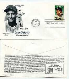 2417 Lou Gehrig, Artmaster, FDC