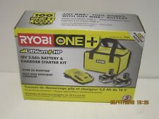 Ryobi P165 18-VOLT ONE+ LITH-ION+ Battery Starter Kit 2X3.0 BATTS/CHG/BAG NISB!!