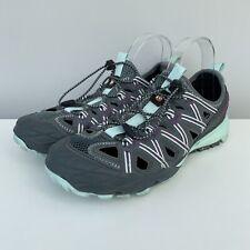 MERRELL Blue Smoke Trail Shoes Size UK 7 Women's Grey Purple Hiking Outdoors