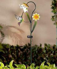 Solar Flower Garden Hummingbird-  Stake Cute Decorative Yard Art