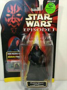 Darth Maul Star Wars Episode 1 l w/ Cloak Tatooine Figure & CommTech Chip 1999