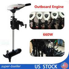 65 Lbs Outboard Motor 660W Engine Inflatable Boat Electric Trolling Motor 12V