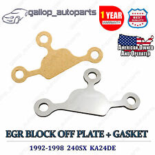 240SX EGR Block Off Delete Plate w/ Gasket Kit KA24DE Engine For Nissan 1992-98