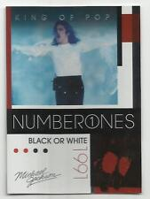 2011 Panini Michael Jackson King Of Pop Number Ones Platinum #189 (BLACK OR WHIT