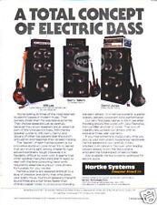 HARTKE BASS SYSTEM AD amp 80's Will Lee Darryl Jones