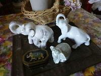 Les 3 Eléphants et une boite !!pour les amoureux des elephants !4piéces a saisir