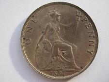 1897 Queen Victoria Penny, UNC.