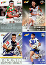SELECT NRL 2012 CHAMPIONS PROMO CARDS FULL SET (4)