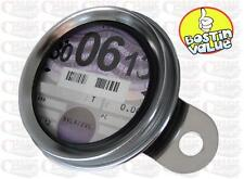CLASSIC STAINLESS STEEL MOTORCYCLE TAX DISC HOLDER